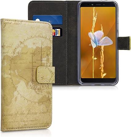 CUSTODIA COVER A LIBRO FLIP 3 PORTA CARD PELLE MAGNETICA XIAOMI MI A2 REDMI 6X