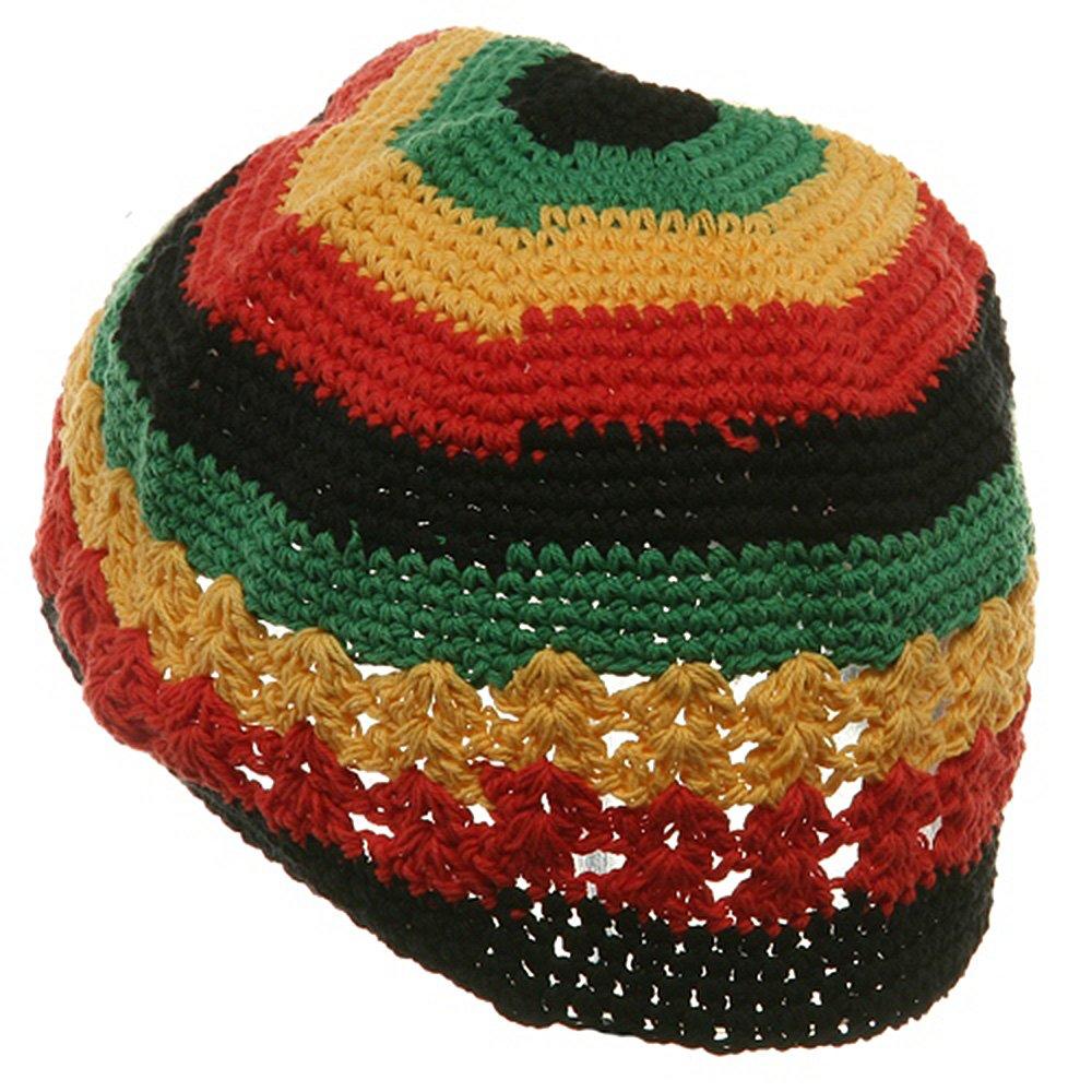Hand Crocheted Beanie 02 Rasta At Amazon Mens Clothing Store