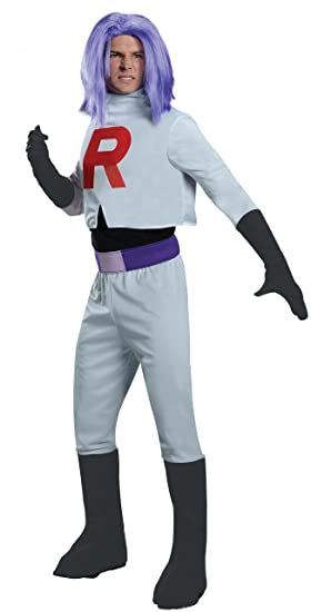 Adult James Team Rocket Fancy Dress Costume Standard