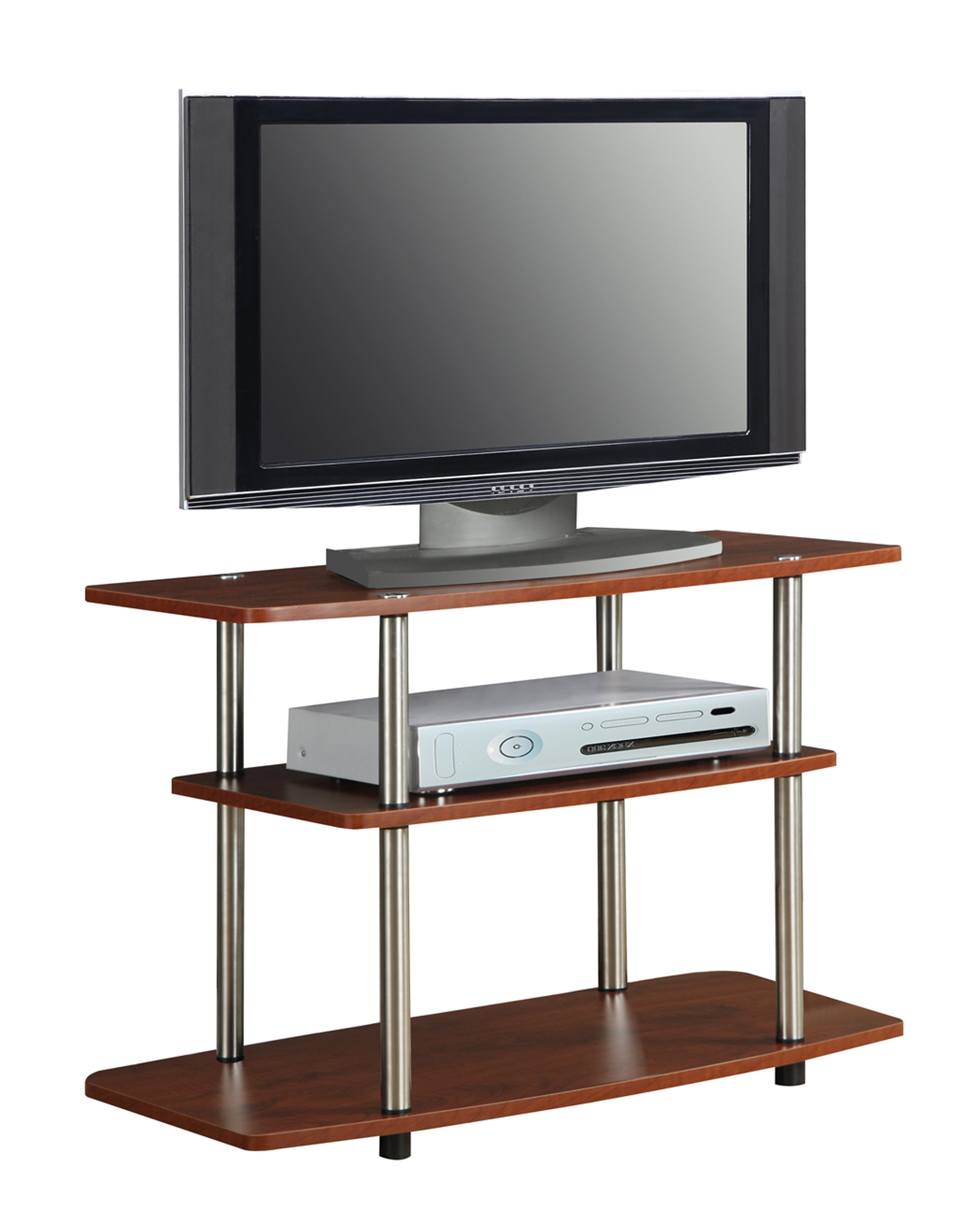 Convenience Concepts Designs2Go 3-Tier TV Stand for Flat Panel Television Up to 32-Inch or 80-Pound, Cherry by Convenience Concepts (Image #2)