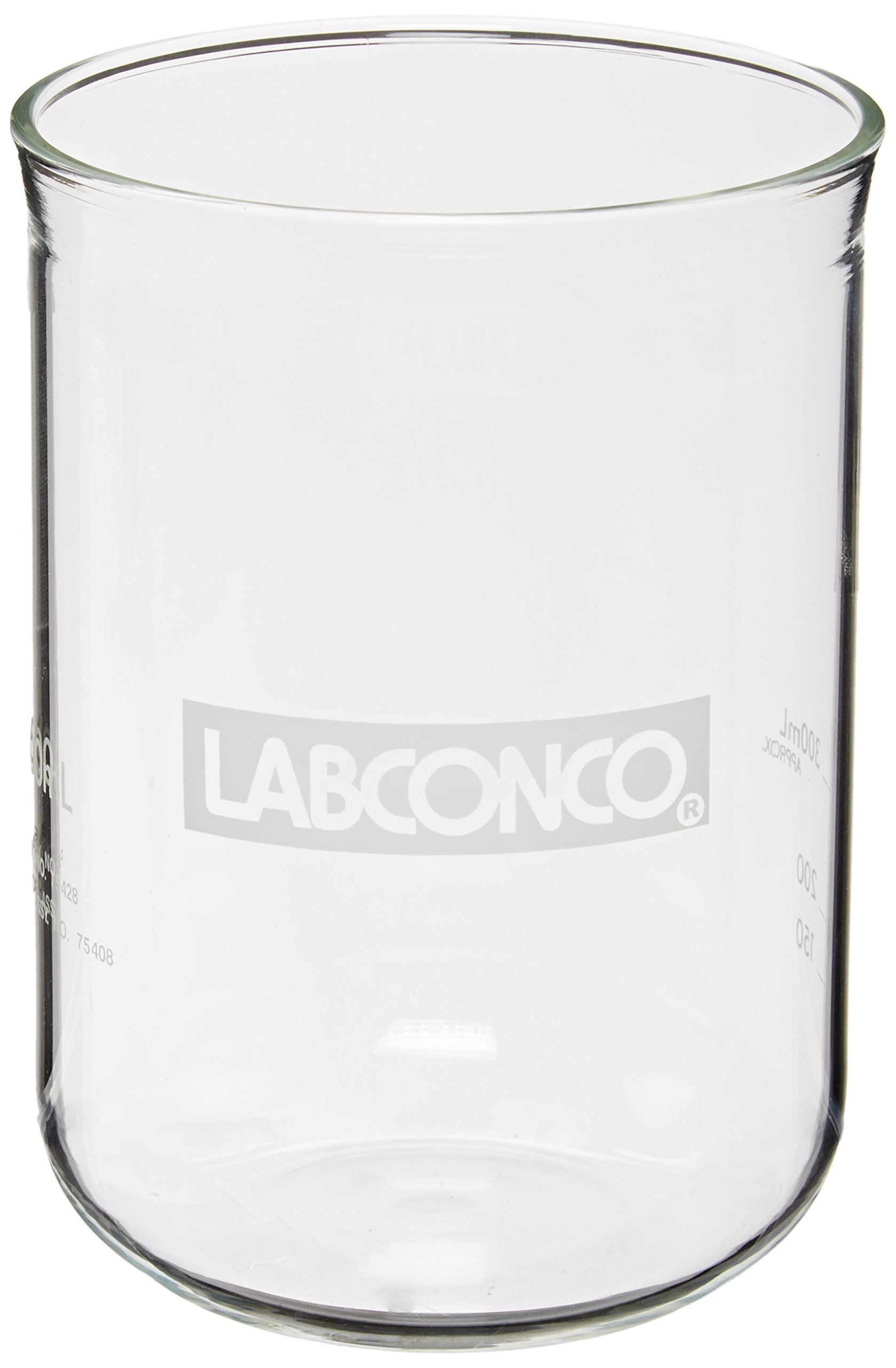 Labconco 7542800 Borosilicate Glass Fast-Freeze Flask Bottom, 600ml Volume by Labconco