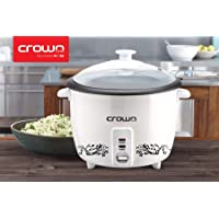 Crownline RC-168 Rice Cooker, 0.6 litre Capacity with Steamer Basket