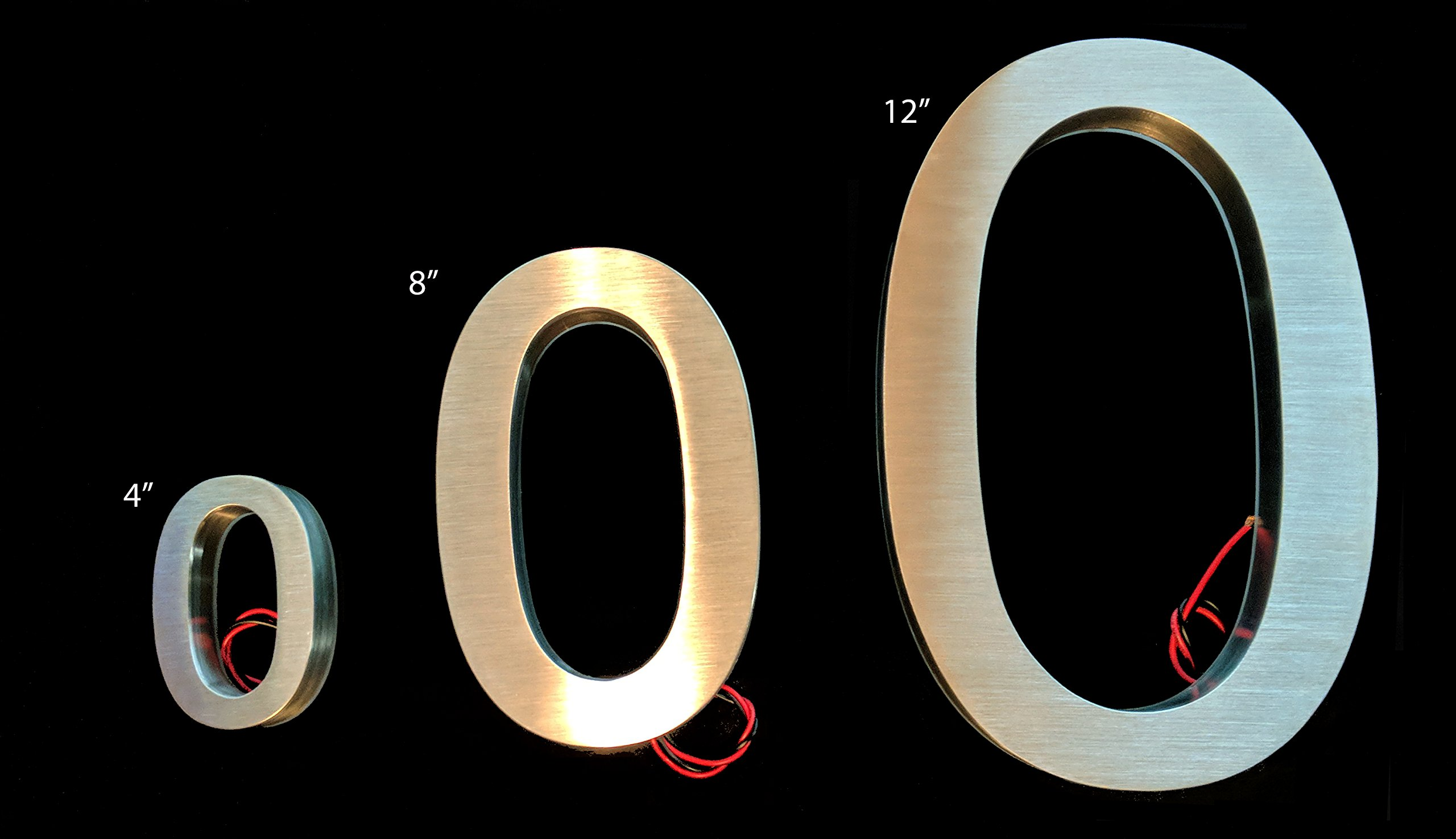 LED House numbers by JELSCO | Modern Big sign address numbers 4 Inches White (0)