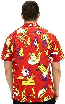 Disfraz de agente Scarface Tony Montana Hawaiian adulto disfraz camisa con botones: Amazon.es: Juguetes y juegos