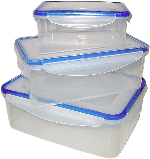 2 x clip /& lock en plastique alimentaire cuisine des boîtes de rangement NOUVEAU