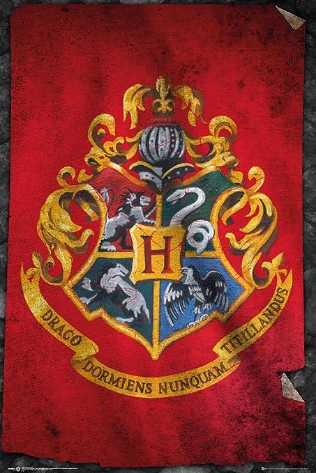 Harry Potter FP3955 Hogwarts Flag Maxi Poster 61 x 91.5 cm Multi-colour