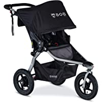 BOB Gear Rambler Jogging Stroller | Smooth Ride Suspension + Easy Fold + XL Canopy Coverage, Black [New Logo]