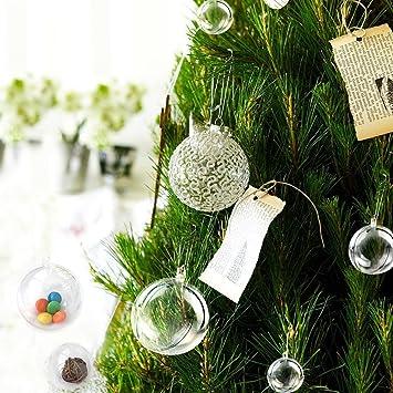 10 bolas transparentes rellenables de marry acting bolsa colgables para festividades tales como - Bolas navidad transparentes ...