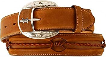 Fenced In Barbed Wire Leather Belt