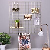 Rumcent rete metallica da parete griglia pannello, metallo Decor mensole da parete, decorazione camera, Photo/Art display & organizer-gold