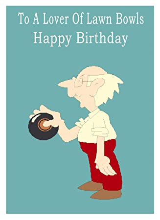 Lawn Bowls Happy Birthday Card Amazon Office Products