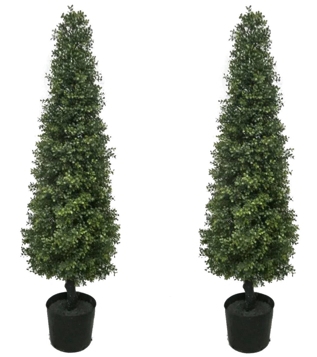 Best Artificial 2 4ft Potted Boxwood Tree Buxus