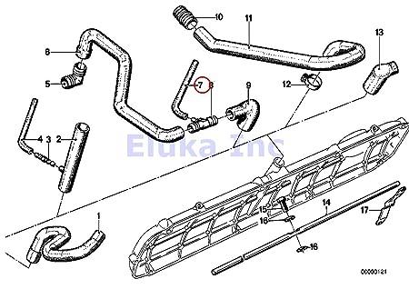 amazon bmw oem 3 2 way valve fuel vacuum hose 3 5 x 7 5 mm E39 540I Engine amazon bmw oem 3 2 way valve fuel vacuum hose 3 5 x 7 5 mm black silicone 1602 2002 2002tii 528i 530i 320i 733i 735i 630csi 633csi 635csi m6