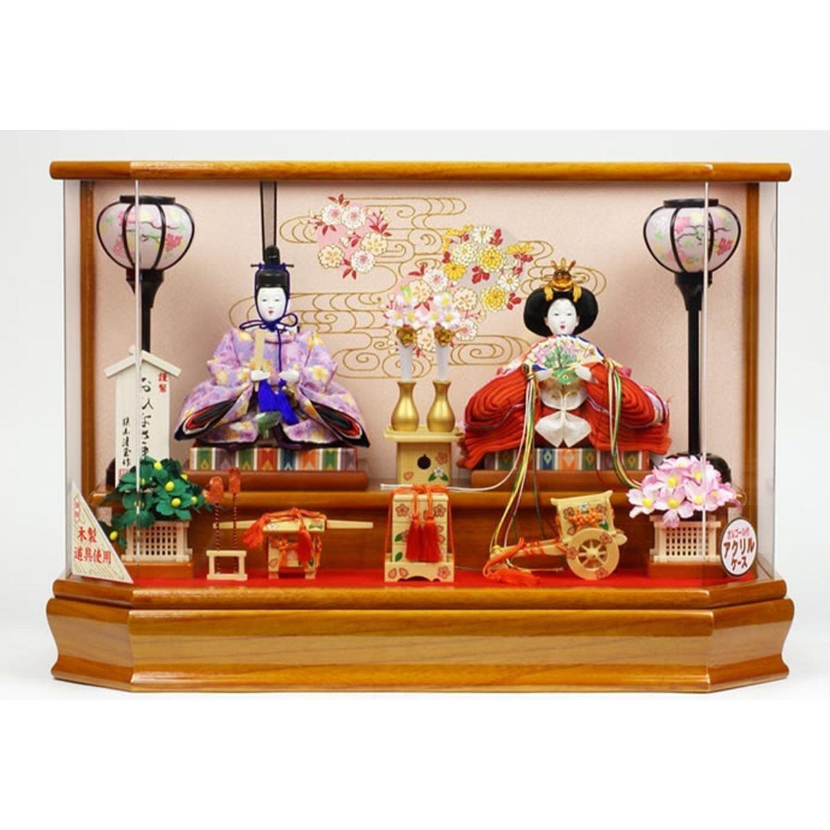 平安清玉 雛人形 親王飾り 間口56×奥行26×高さ39(cm) nas4-5-kk-1   B00ARBM05U