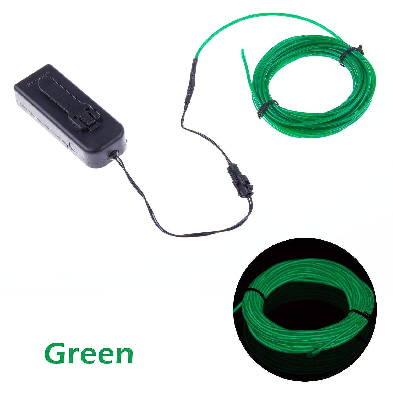 Amazon.com : TopYart Neon LED Light Glow EL Wire Battery Pack String ...