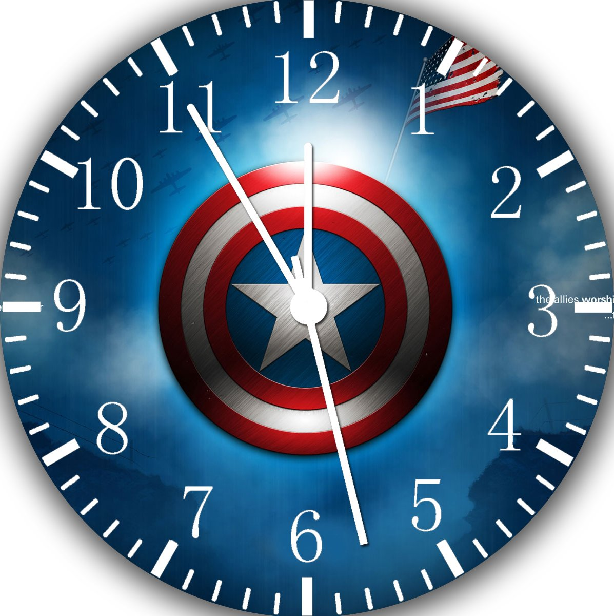 Captain America Frameless Borderless Wall Clock W428 Nice For Gift or Room Wall Decor