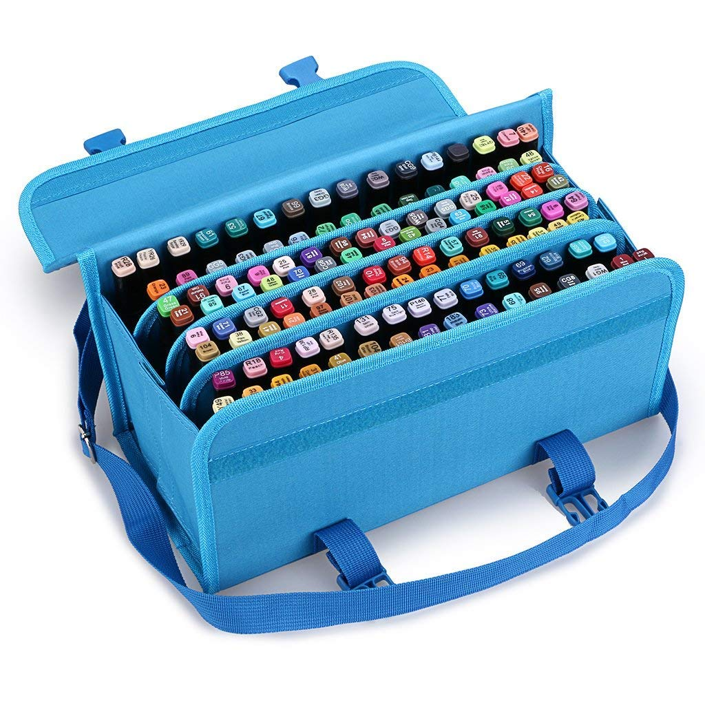 TOOGOO Marker 120 Holders Organizer Case Storage So On Fits from 15Mm to 22Mm Diameter Blue by TOOGOO (Image #7)