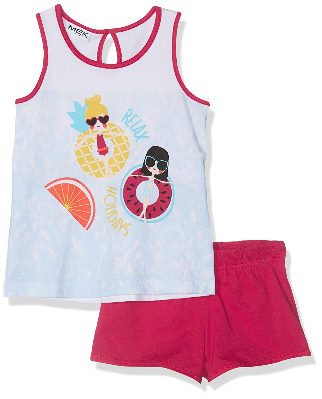 Mek Completo Canotta+Shorts Completino Bambina Pacco da 2