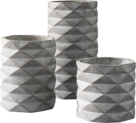 Ashley Furniture Signature Design – Charlot Vase – Set of 3 – Contemporary – Gray