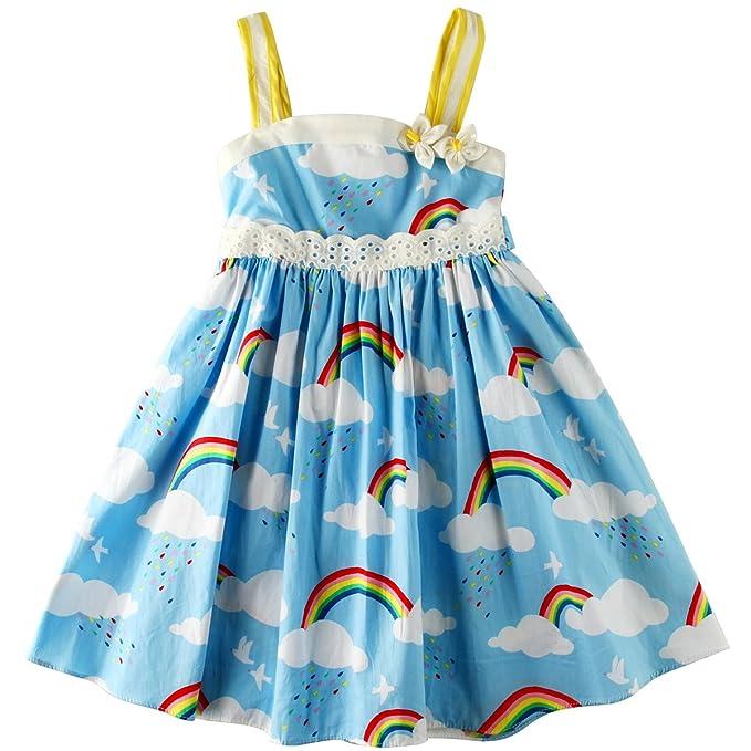 e232c61d8 Amazon.com  Sharequeen Fairy World Printing Cotton Baby Kids Slip ...