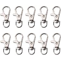 Set of 50 Metal Lobster Claw Clasps Swivel Clasps Lanyard Snap Hook with Trigger Snap for Dog Collar/Jewelry Finding, 1…