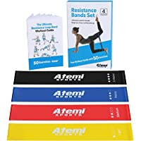 Atemi Sports Resistance Bands | Exercise Bands Set Of 4 Mini Resistance Loops Plus 50-Exercise Workout Booklet | Quality…