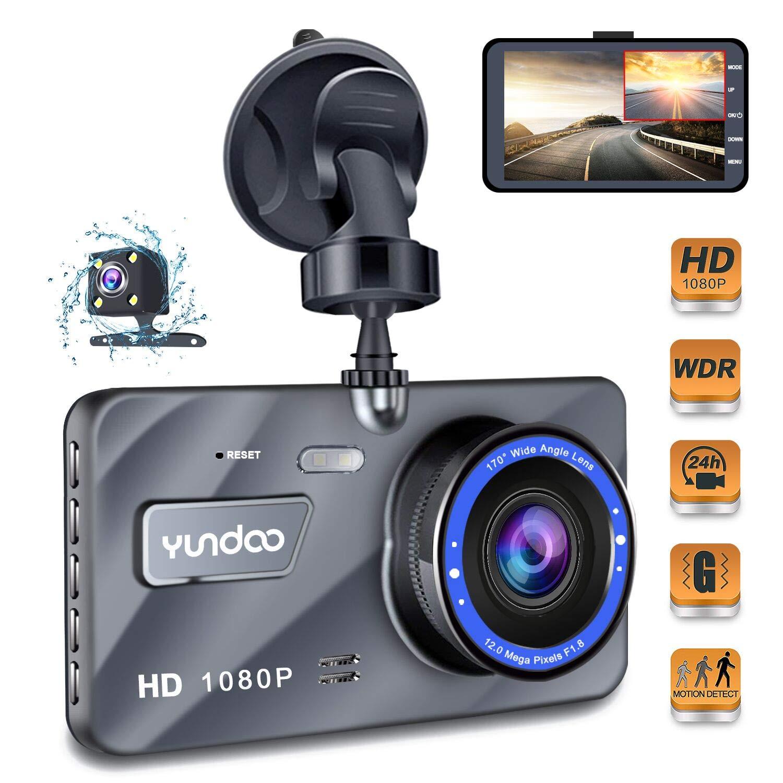 "Dash Cam Car Dashboard Camera - Full HD 1080p Car Dashboard Camera,4""IPS  Screen Dual Wide Angle Lens Car Dash Cam,G-Sensor,Cycle"