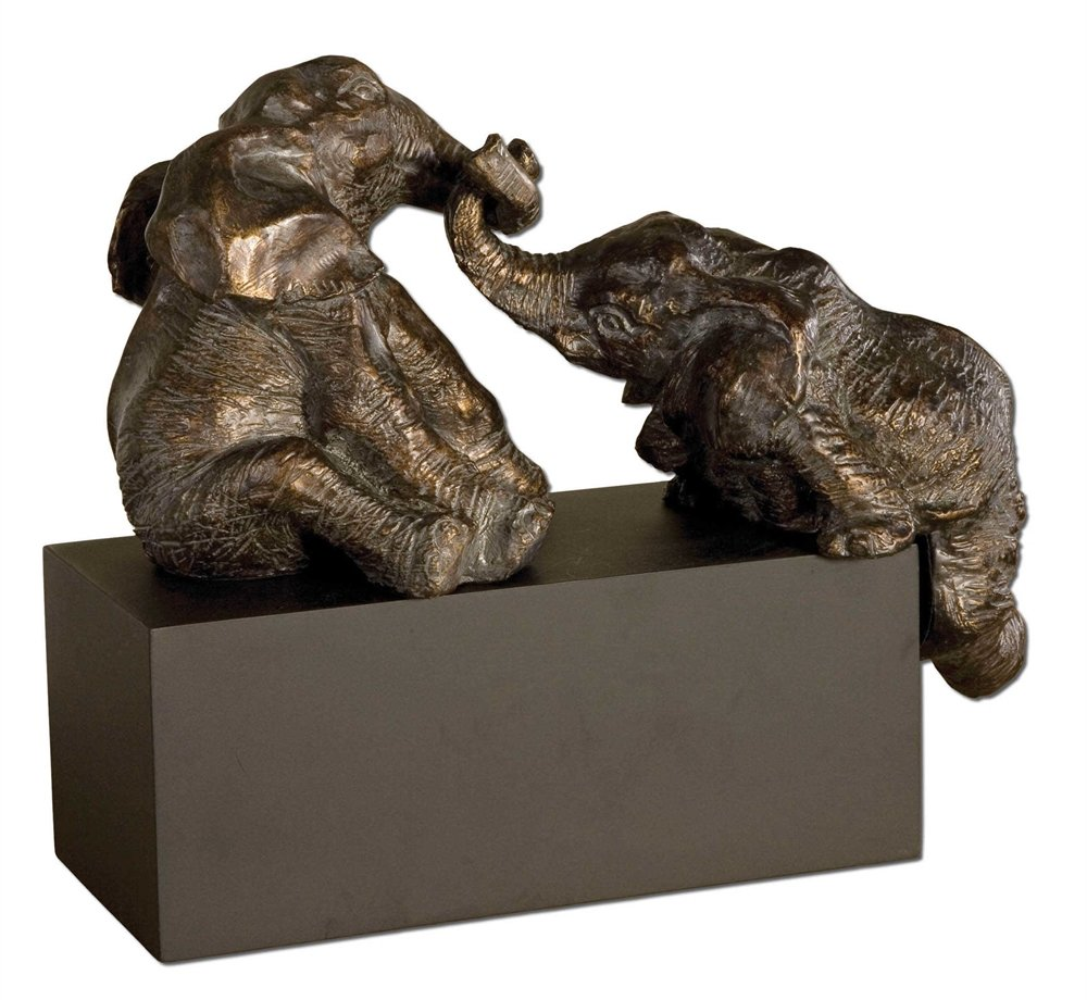 PachydermsブロンズFigurines The PlayfulコレクションFigurines & Sculptures   B06Y45HS94