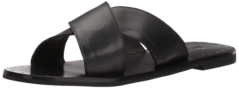 FRYE Women's Ally Criss Cross Slide Sandal B074QTMVSR 6 B(M) US|Black