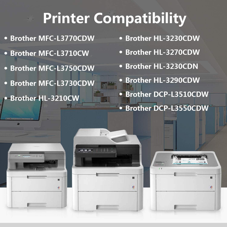 6-Pack TN223C,TN223M,TN223Y Toner Cartridge Replacement for Brother MFC-L3770CDW L3710CW L3750CDW L3730CDW HL-3210CW 3230CDW 3270CDW 3290CDW DCP-L3510CDW L3550CDW Printer Cartridge TN223 2C+2M+2Y