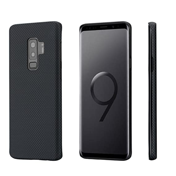 hot sales 32b69 6e649 Amazon.com: Minimalist Samsung S9 Plus Case, PITAKA Magcase Super ...