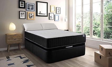 MAXCOLCHON Pack Colchon Confort-Visco + Almohada + Canape Abatible 150x200