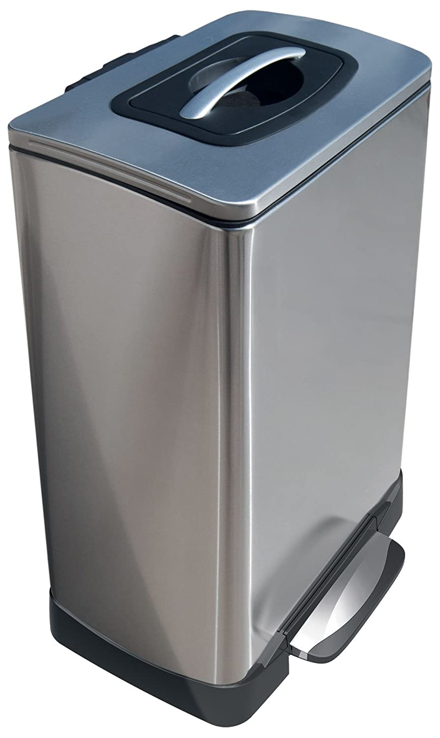 Household Essentials Trash Krusher Manual Compactor, 40 L, Stainless Steel TK10