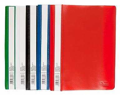 5-50 Schnellhefter aus Kunststoff  A4 Plastikhefter Schulhefter in 5 Farben