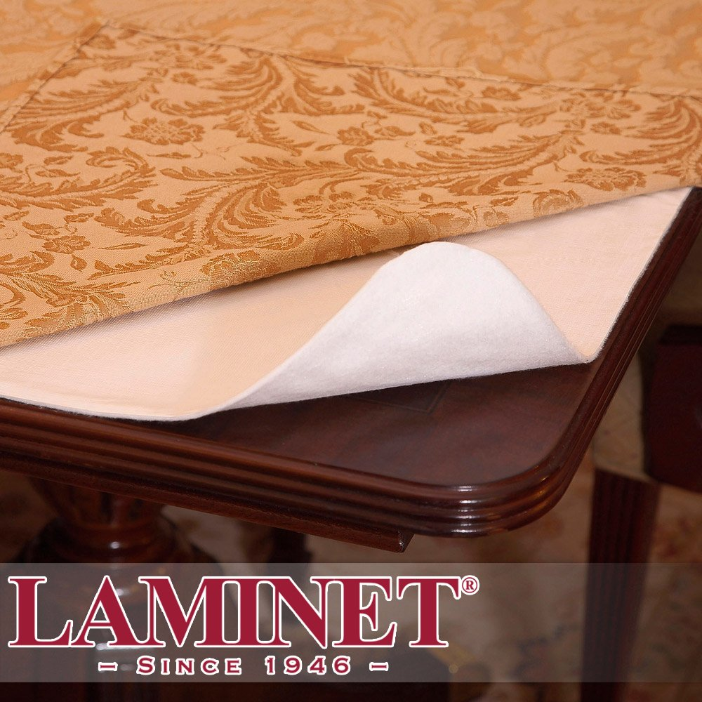 LAMINET Elite Elastic Edged Print Table Pad - Marble Blue - Small Round - Fits Tables up to 44