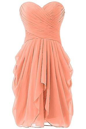 98382d73fd1 Dressy New Star Women s Chiffon Bridesmaid Dress Short Homecoming Prom  Dresses Coral US8