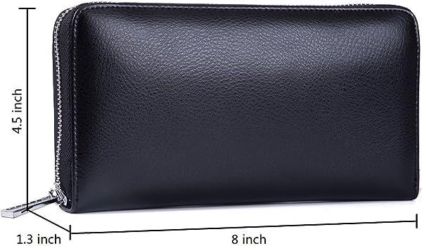 Huge Storage Capacity Buvelife Credit Card Wallet Leather RFID Wallet for Women