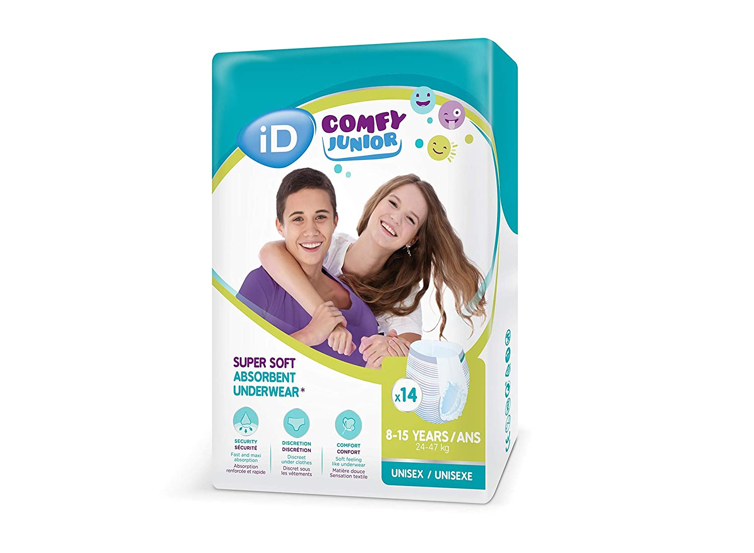 8-15 Years Pack of 14 iD Comfy Junior Pants