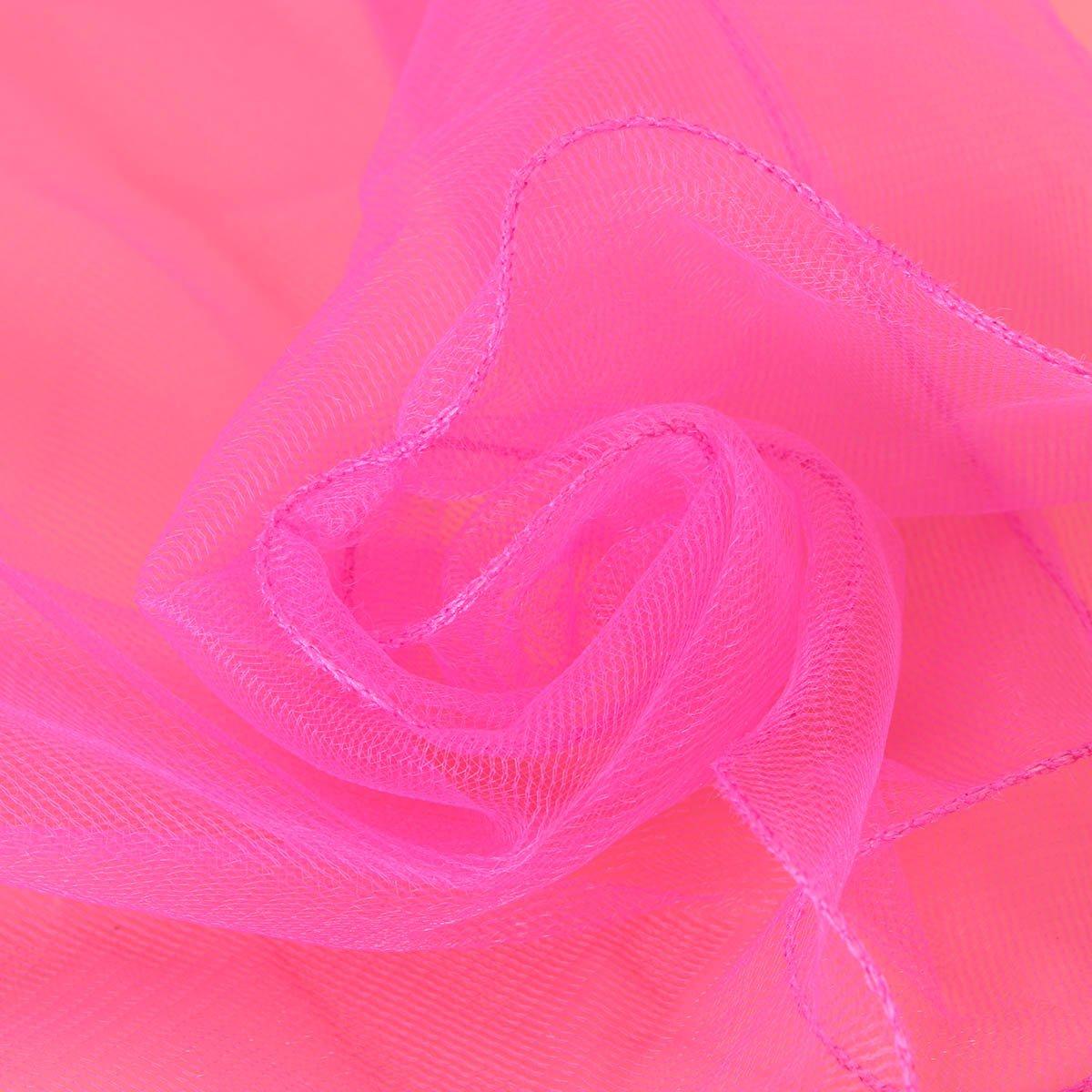 LUOEM Filles Premi/ère Communion Voiles Fleur Voiles Couronne Mariage Fleur Communion Couronne Rosy