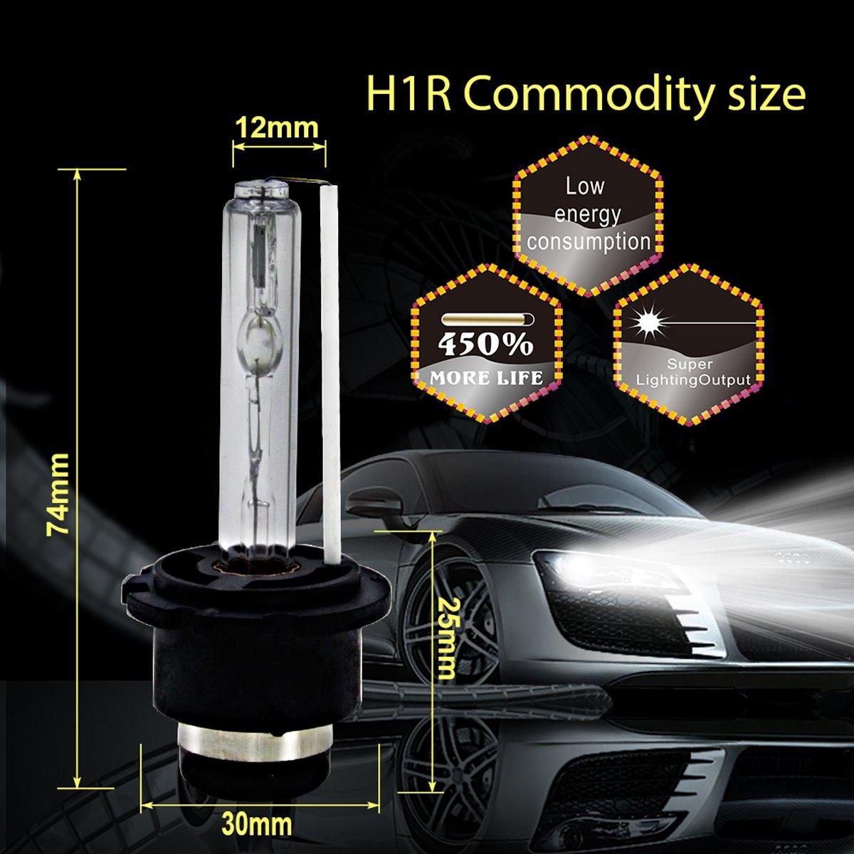 2pc 6000K OEM Onyx HID Xenon Pair D2S D2R for Osram or Philips Headlight Bulbs by Generic (Image #3)