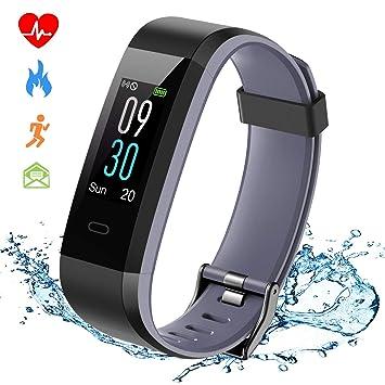 ISWIM Montre Connectée Smartwatch Bracelet Connecté Podomètre Etanche IP68 Écran Couleur pour Les Femmes Hommes Enfants