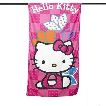 Hello Kitty-Toalla de playa piscina niña L152 suave de microfibra 150 x 75 cm: Amazon.es: Hogar