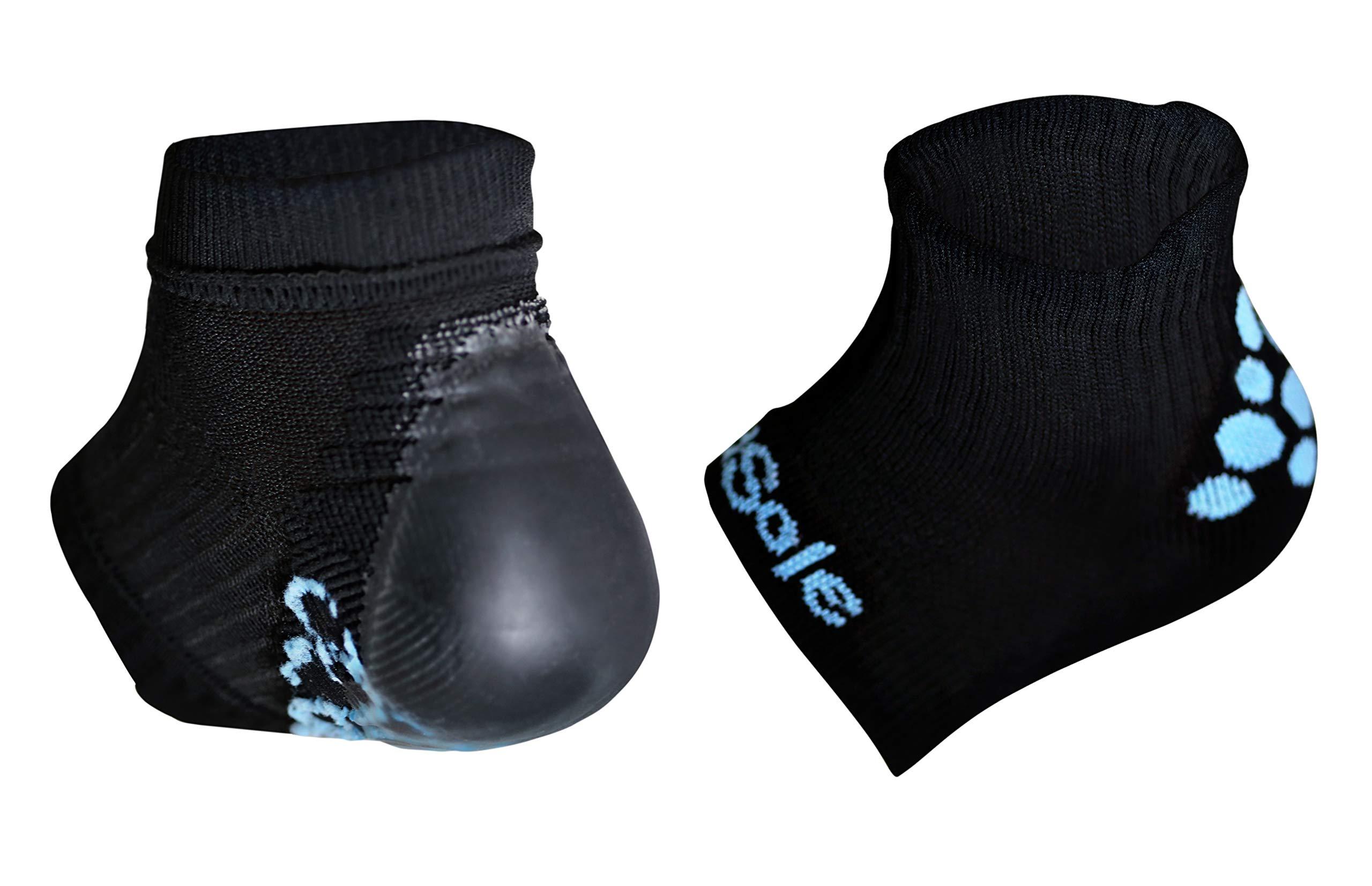 KidSole RX Gel Sports Sock for Kids with Heel Sensitivity from Severs Disease, Plantar Fasciitis (Kid's 2-7, Black) by KidSole