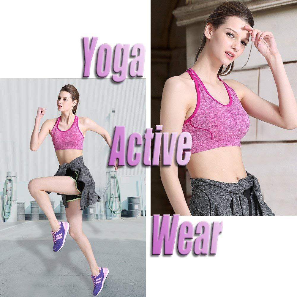 CAMEL Frauen Mode Sport Bras Nahtlose Workout Racerback BH Yoga Kompression Tops Fitness Activewear für Gym