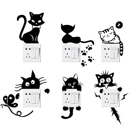 Amazon Com Switch Sticker Yosemy 6 Pcs Lovely Cute Cartoon Vinyl