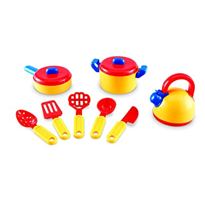 Learning Resources Pretend & Play Cooking Set, Play Food, Imaginative Play, 10 Pieces, Ages 3+: Toys & Games