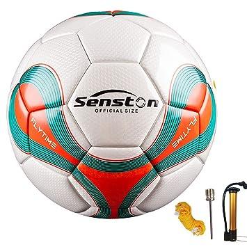 Senston Balones de Futbol Hombre Team Training Balón Incluido Bolsa de red    bomba   aguja 68924a237ee57