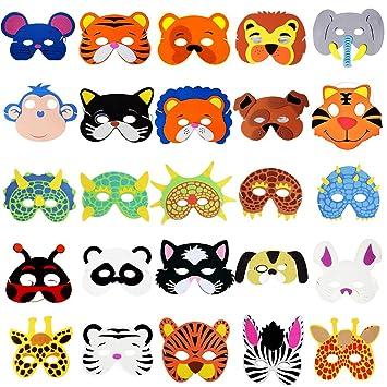 MEJOSER 25pcs Máscaras Animales para Niños Caretas ...