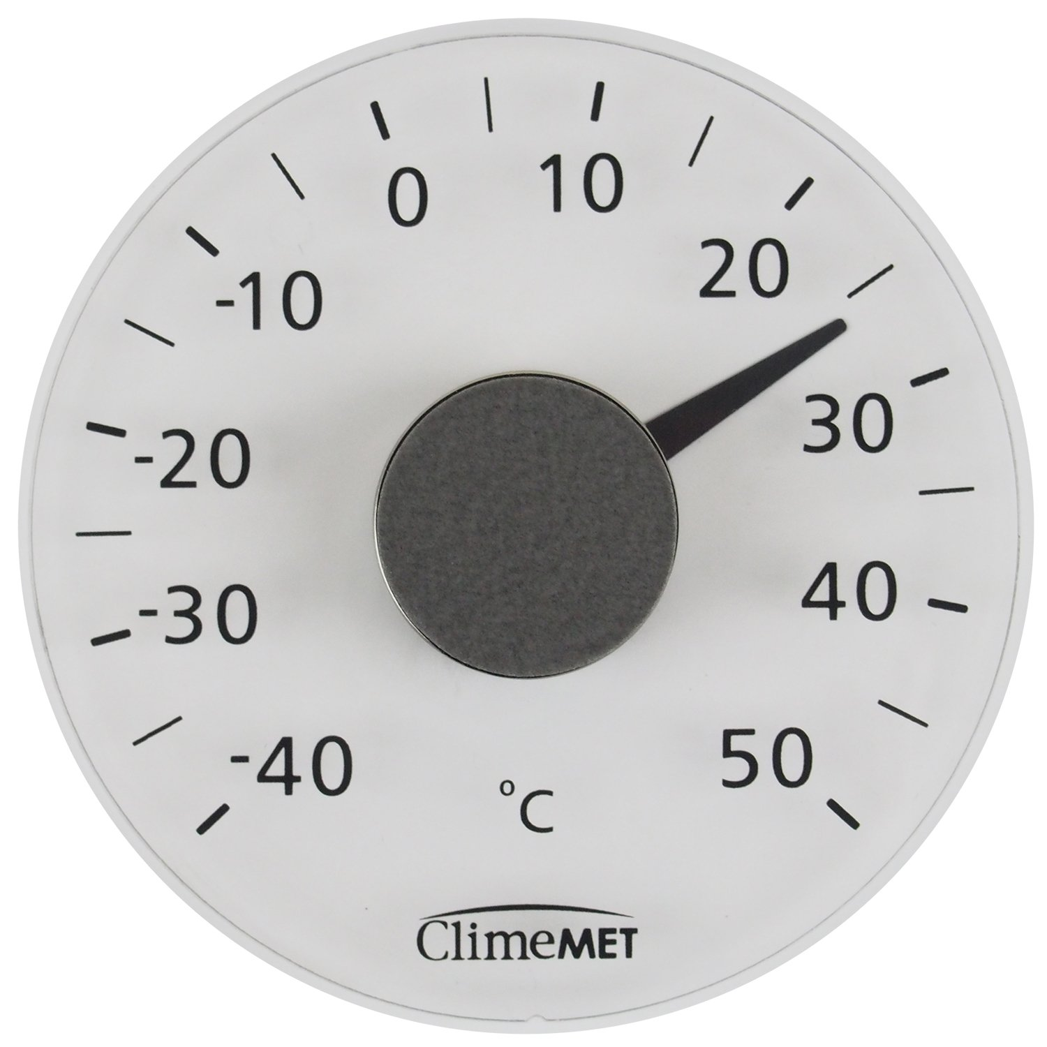 ClimeMET CM3012 Clear Plastic Self-Adhesive Window Thermometer.