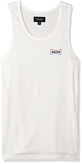 d7ff46d7f4278 Amazon.com  Brixton Men s Missouri Tailored Fit Tank Top  Clothing